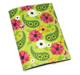 Обложка для паспорта женская зеленая Хохлома Green