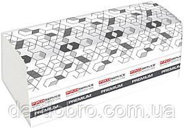 Полотенце бумажное PRO service Premium Z-сложенное 2-х слой. 200 шт. Белый, цел. (21 шт / ящ)