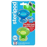 Антибактериальный чехол для зубной щетки Steripod, зеленая зависть + тихоокеанский синий (в уп.2шт)