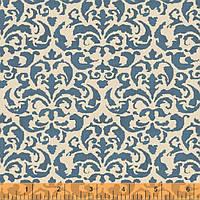 """Ткань для пэчворка и рукоделия американский хлопок """"Синий орнамент"""" - 25*55 см"""