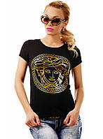"""Женская стильная футболка 23 """"Versace Gold"""" в расцветках"""