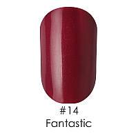 Гель лак Naomi 12 мл. Цвет №14 - фиолетово-бордовый с проглядывающей пыльцой красной слюды (FANTASTIC)