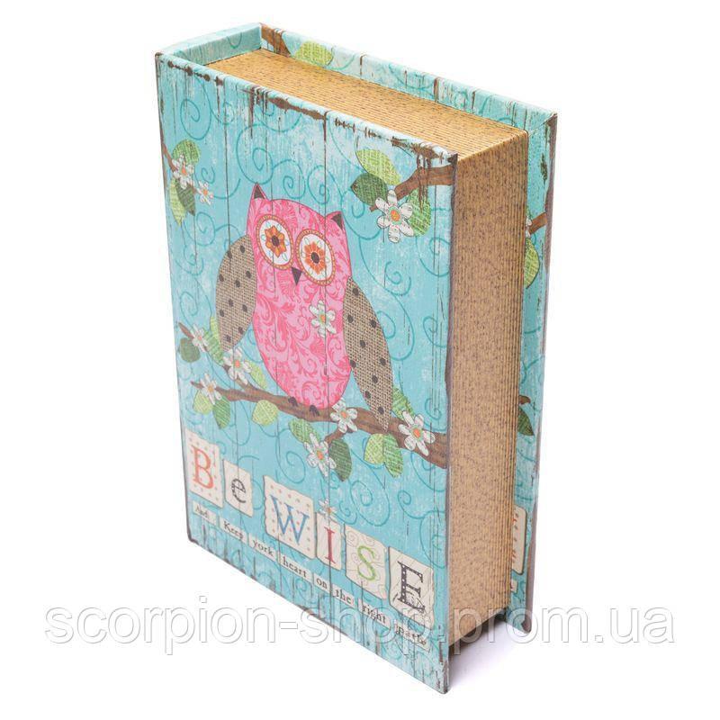 "Книга-шкатулка ""Сова"" (33*24*8 см) комплект из 3 шкатулок"