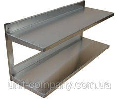 Полиця навісна консольна з нержавіючої сталі