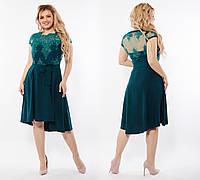 Платье женское длинное нарядное с кружевной вышивкой (К28124), фото 1