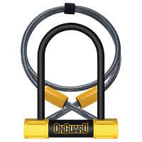 Замок U-образный ONGUARD Bulldog Mini DT размер скобы 90 x 140мм, толщина 13мм + кабель 120см х 10мм, 4 ключа