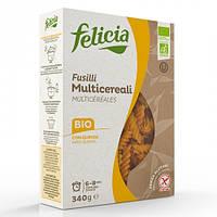 Паста Felicia мультизлакова FUSILLI (75% кукурудза*, 10% рис*, 10% гречка*, 5% кіноа*. *Organic
