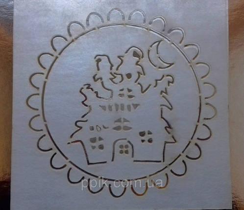 Трафарет для торта, пряников Дом с привидениями, фото 2