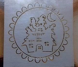 Трафарет для торта, пряников Дом с привидениями