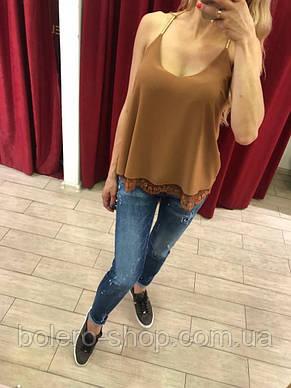 Женская майка Extasy Италия коричневая, фото 2