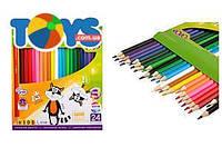 Карандаши цветные KIDS LINE, 24 цвета, ZB.2416