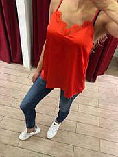 Женская майка Byclara Италия красная , фото 3