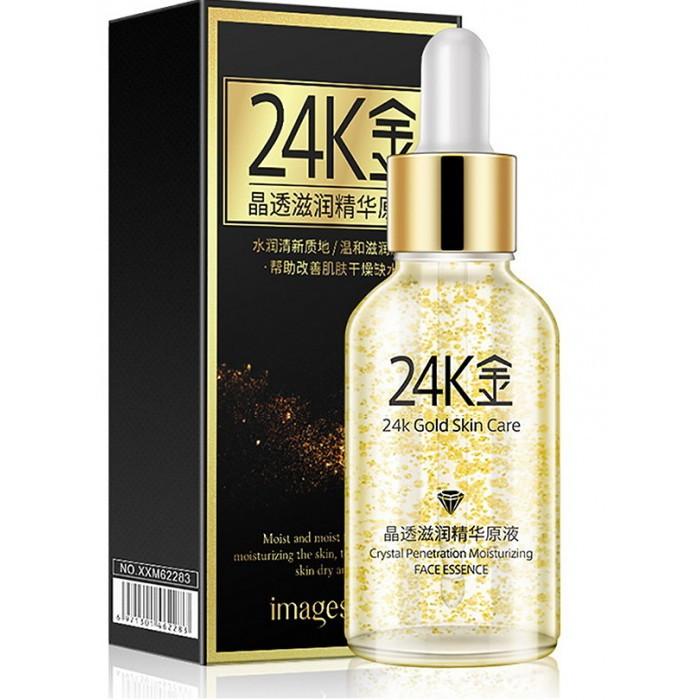 Сыворотка для лица Images 24 Gold Crystal Essence с нано-золотом и гиалуроновой кислотой, 30 мл