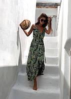 Длинное женское летнее платье на запах, фото 1