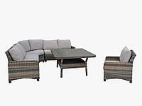 Комплект мягкой мебели Cruzo Канкун из искусственного ротанга для сада/террасы Разноцветный (km-2357)