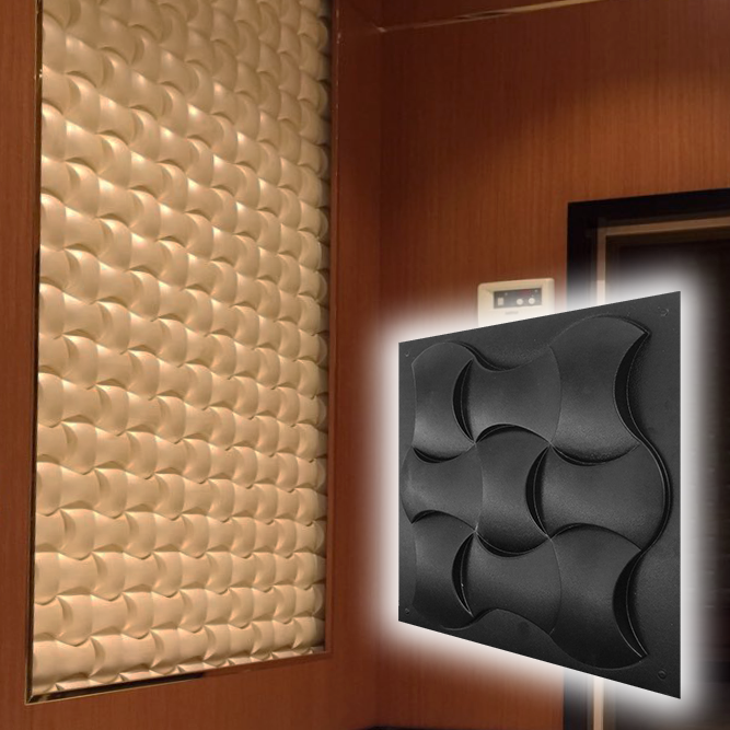 "Форма для 3D панелей ""Софт"" 500*500 мм"