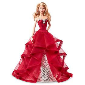 Коллекционная кукла Барби Праздничная в красном платье Barbie Holiday 2015 Блондинка CHR76