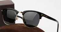 Солнцезащитные очки в стиле Tom Ford 248 black, фото 1