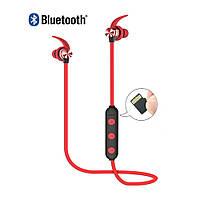 Беспроводная гарнитура 2в1 bluetooth-наушники + MP3-плеер (красный)