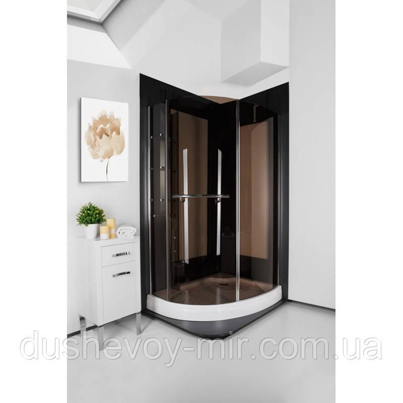 Кабина душевая ITALIAN STYLE PARADISO 120х90х185 P2063S RG  коричневое стекло