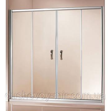 Стеклянная шторка для ванной ITALIAN STYLE VENICE 150х140 V1152 EG коричневая