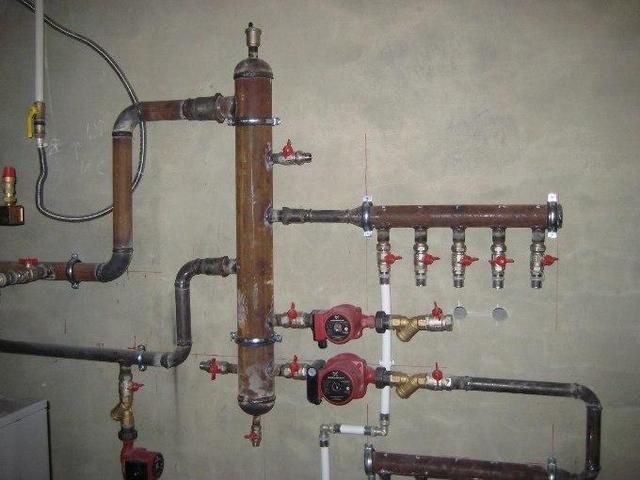Расположение гидрострелки для системы отопения