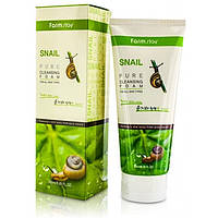 Пенка для умывания с улиточным муцином FarmStay Snail Pure Cleansing Foam 180 мл