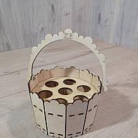 Деревянная пасхальная корзина для яиц