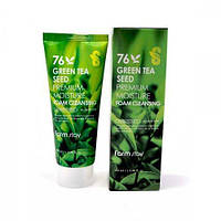Пенка для умывания с зеленым чаем FarmStay Green Tea Seed Premium Moisture Foam Cleansing 100 мл