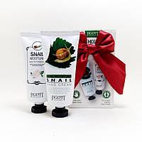 Бьюти-набор для ухода за руками и ногами увлажняющий Jigott Real Moiusture Hand & Poot Cream 2 Set
