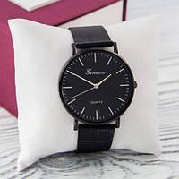 Наручные часы эконом Geneva металл Черный черный серебро