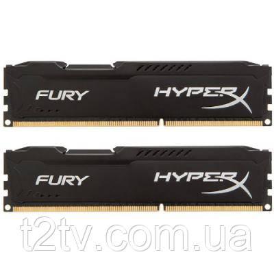 Модуль пам'яті для комп'ютера DDR3 8Gb (2x4GB) 1866 MHz HyperX Black Fury Kingston (HX318C10FBK2/8)