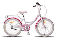 "Велосипед 20"" PRIDE SANDY бело-розовый глянцевый 2015"