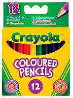 Короткие цветные карандаши (12 шт), Crayola