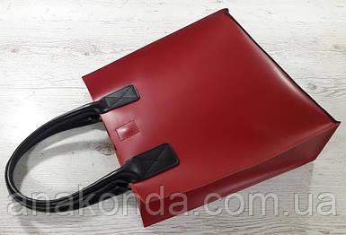 275-к Натуральная кожа, Сумка-пакет с мешком на молнии, красная Кожаная Сумка-шоппер красная кожаная черная