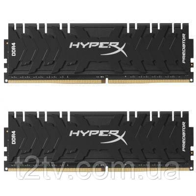 Модуль памяти для компьютера DDR4 16GB (2x8GB) 3200 MHz HyperX Predator Black HyperX (Kingston Fury)