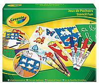 Набор для рисования с трафаретами, фломастерами и восковыми мелками, Crayola