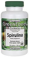 Поддержка щитовидной железы - Спирулина (Spirulina), 500 мг 180 таблеток