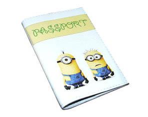 Обложка  для паспорта с принтом Миньоны