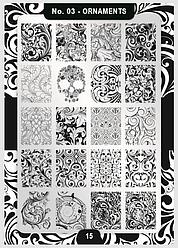 Пластина для стемпинга Moyra №03 Ornaments/Орнаменти