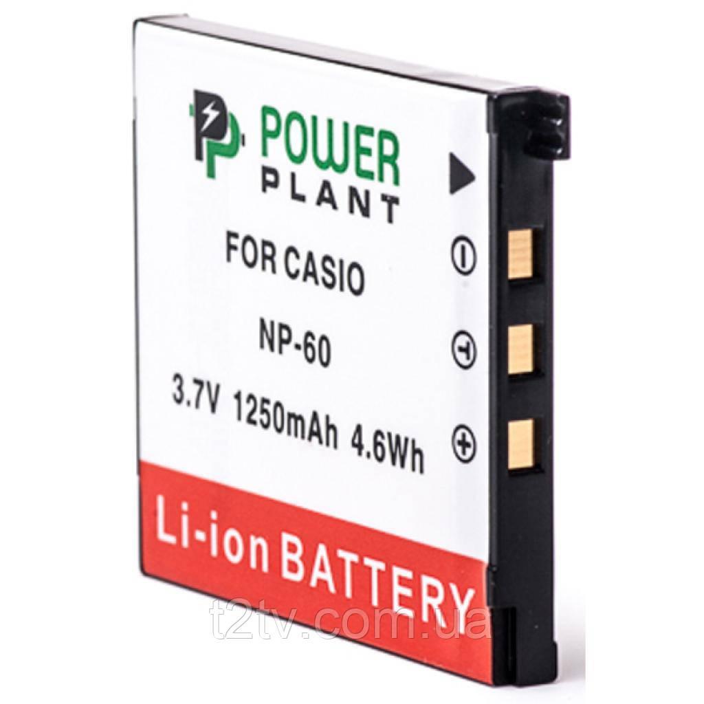 Аккумулятор к фото/видео PowerPlant Casio NP-60 (DV00DV1227)