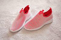 Женские кроссовки трикотаж красные белые сетка спорт йога 37-39 размера