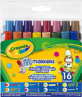 Смываемые мини-фломастеры с узорными наконечниками (16 шт), Crayola