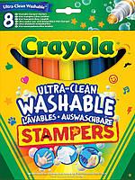 Смываемые фломастеры-штампы Супер чисто (8 шт), Crayola