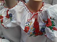 Детская вышитая блуза с коротким рукавом