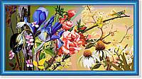 """Репродукция  современной картины  """"Царство кузнечика"""" 30 х 55 см"""