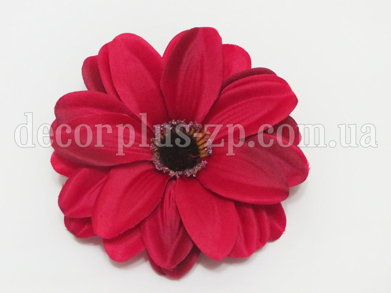 Цветок цинии 12см , красный