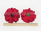 Цветок цинии 12см , красный, фото 2