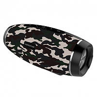 Портативная Bluetooth колонка Hopestar H27 с влагозащитой Camouflage USB FM FL-386, КОД: 1083816