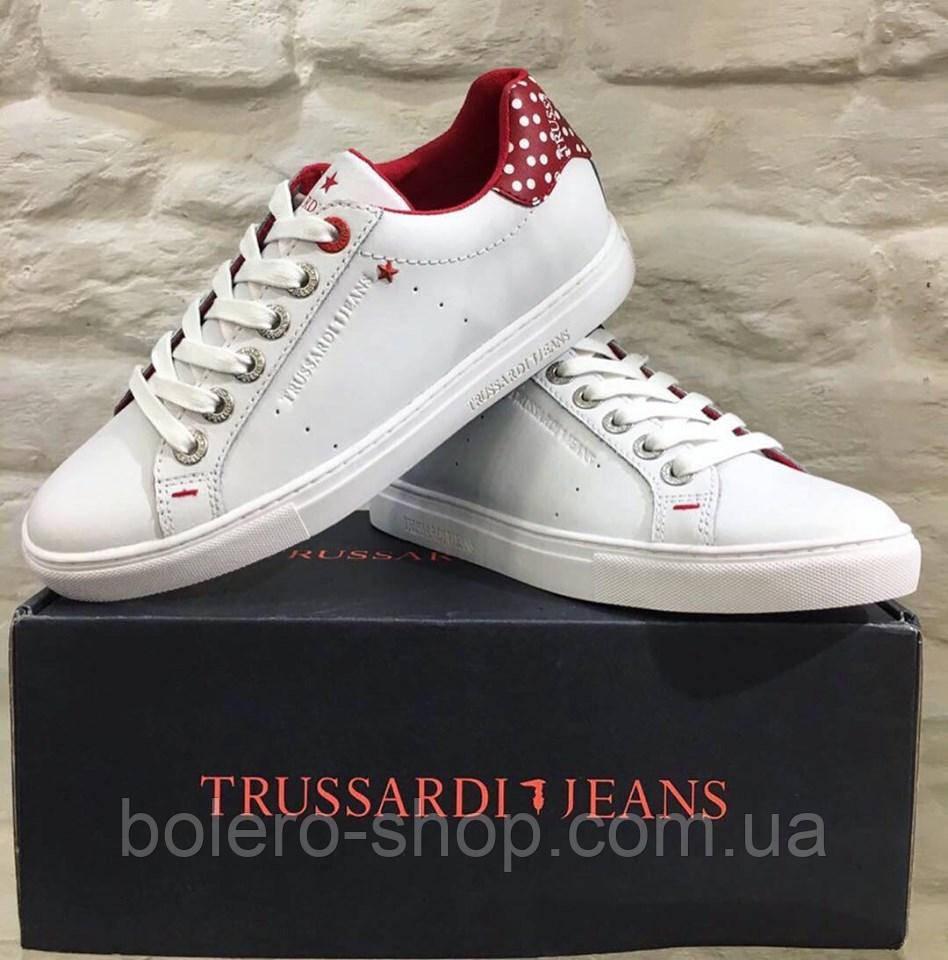 Кеды женские Trussardi Jeans белые с красным